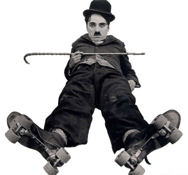 Charlie Chaplin Roller Skater