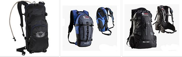 Styles of Hydration Packs